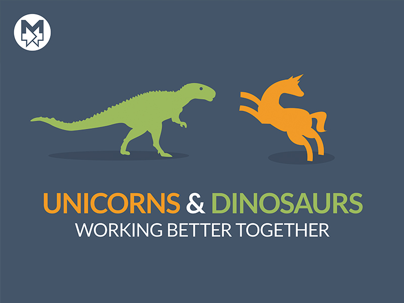 Unicorns and Dinosaurs Cover Slide
